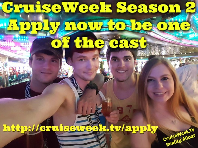 Casting call for Carnival Cruises Reality Show