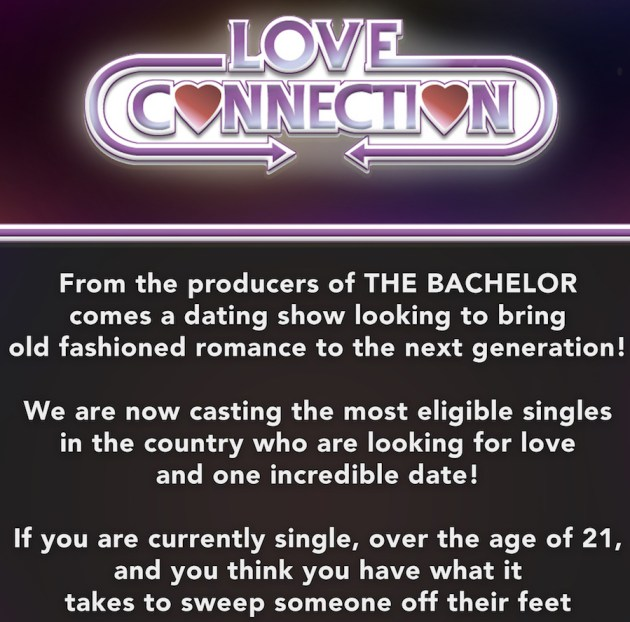 Love Connection now casting