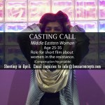 "San Francisco Casting Call for Middle Eastern Actress for Student Film ""Bad Women"""