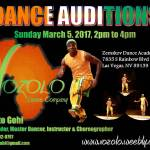 Open Auditions in Las Vegas for Volozo Dance Company