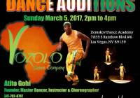Volozo Dance Company audition flyer