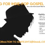 Ignite Entertainment Casting indie-pop gospel artists in Michigan / Ohio