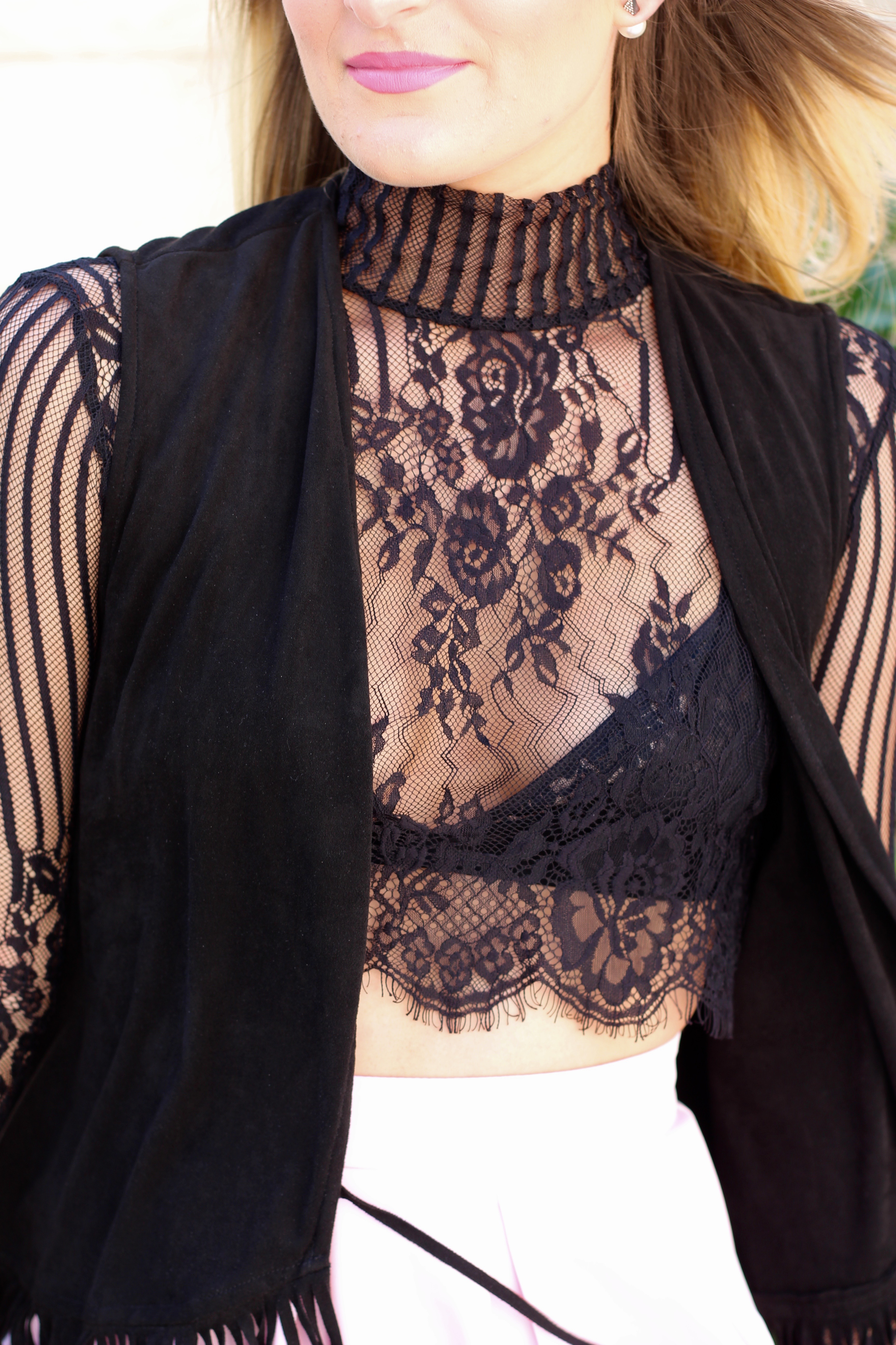 lace detailing for the lingerie look