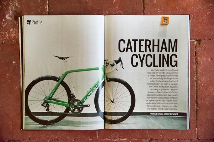 Caterham Cycling. Issue 46 Peloton Magazine