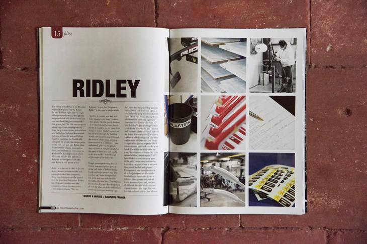 Ridley. Issue 15, Peloton Magazine