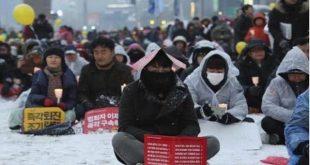 韩国法院早前以证据不足为由,拒绝批准拘捕李在镕,令民众不满。(网络图片)