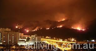 燃烧了24小时后,山火仍未熄灭,并向山下蔓延扩散。(网络图片)