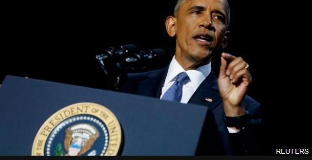 奥巴马动情 泪洒告别演说