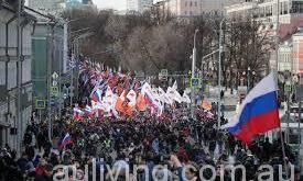 俄罗斯全国共有数以万计示威者参与集会抗议政府贪污。(网络图片)