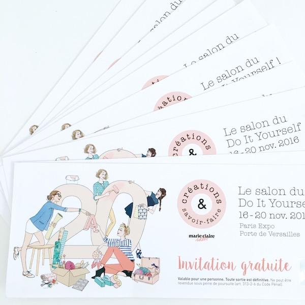 Diy salon cr ations et savoir faire invitations gagner - Invitation salon savoir faire et creation ...