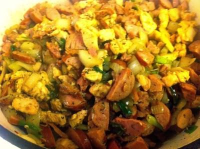 Cajun Jambalaya with Chicken, Sausage & Ham | Aunt Bee's Recipes