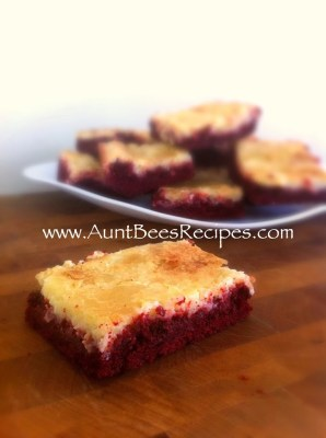 Red Velvet Cheesecake Bars | Aunt Bee's Recipes