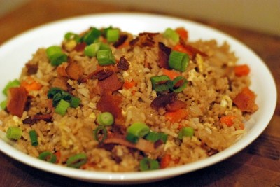 Bacon egg fried rice aunt bees recipes bacon egg fried rice forumfinder Images