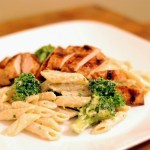 Grilled Chicken & Broccoli Penne Alfredo