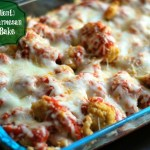 {5 Ingredient} Chicken Parmesan Ravioli Bake