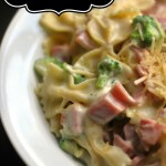 5 Ingredient Ham, Broccoli & Alfredo Pasta Toss