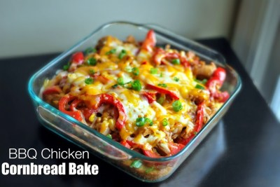 BBQ Chicken Cornbread Bake | Aunt Bee's Recipes