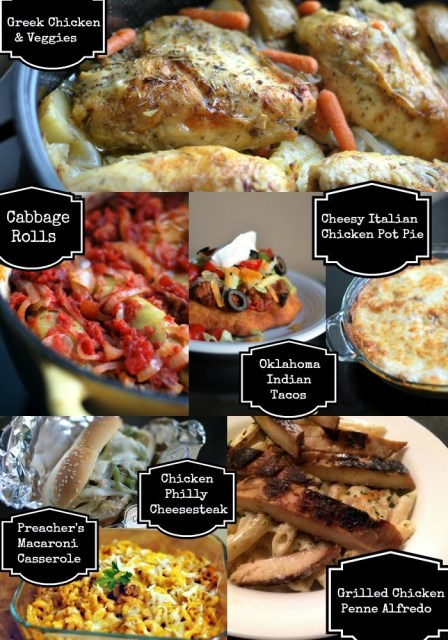 Menu Plan For 1-19-2015 | Aunt Bee's Recipes