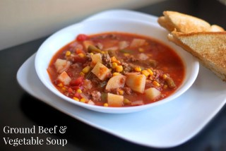 Ground Beef & Vegetable Soup | Aunt Bee's Recipes
