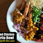 Grilled Chicken Burrito Bowls with Chipotle Lime Sauce