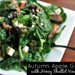 Autumn Apple Greens with Honey Shallot Vinaigrette