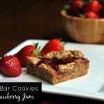 PB & J Bar Cookies with Strawberry Jam