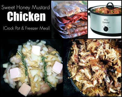 Sweet Honey Mustard Chicken (Crock Pot & Freezer Meal) | Aunt Bee's Recipes