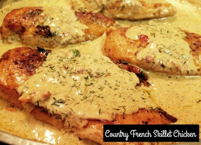 Country French Skillet Chicken | Aunt Bee's Recipes