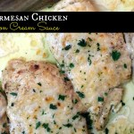 Baked Parmesan Chicken with Lemon Cream Sauce