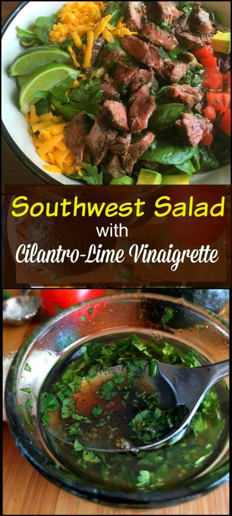 Southwest Salad with Cilantro-Lime Vinaigrette | Aunt Bee's Recipes