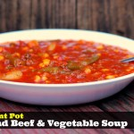 Instant Pot Ground Beef & Vegetable Soup