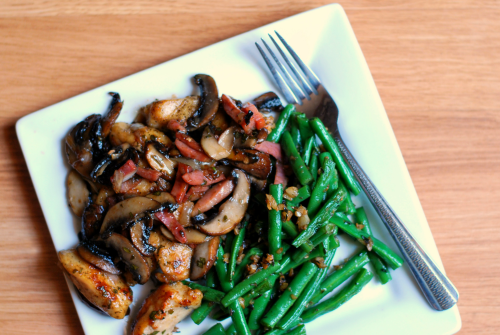 Dinner Thyme's Chicken Marsala & Green Beans 2