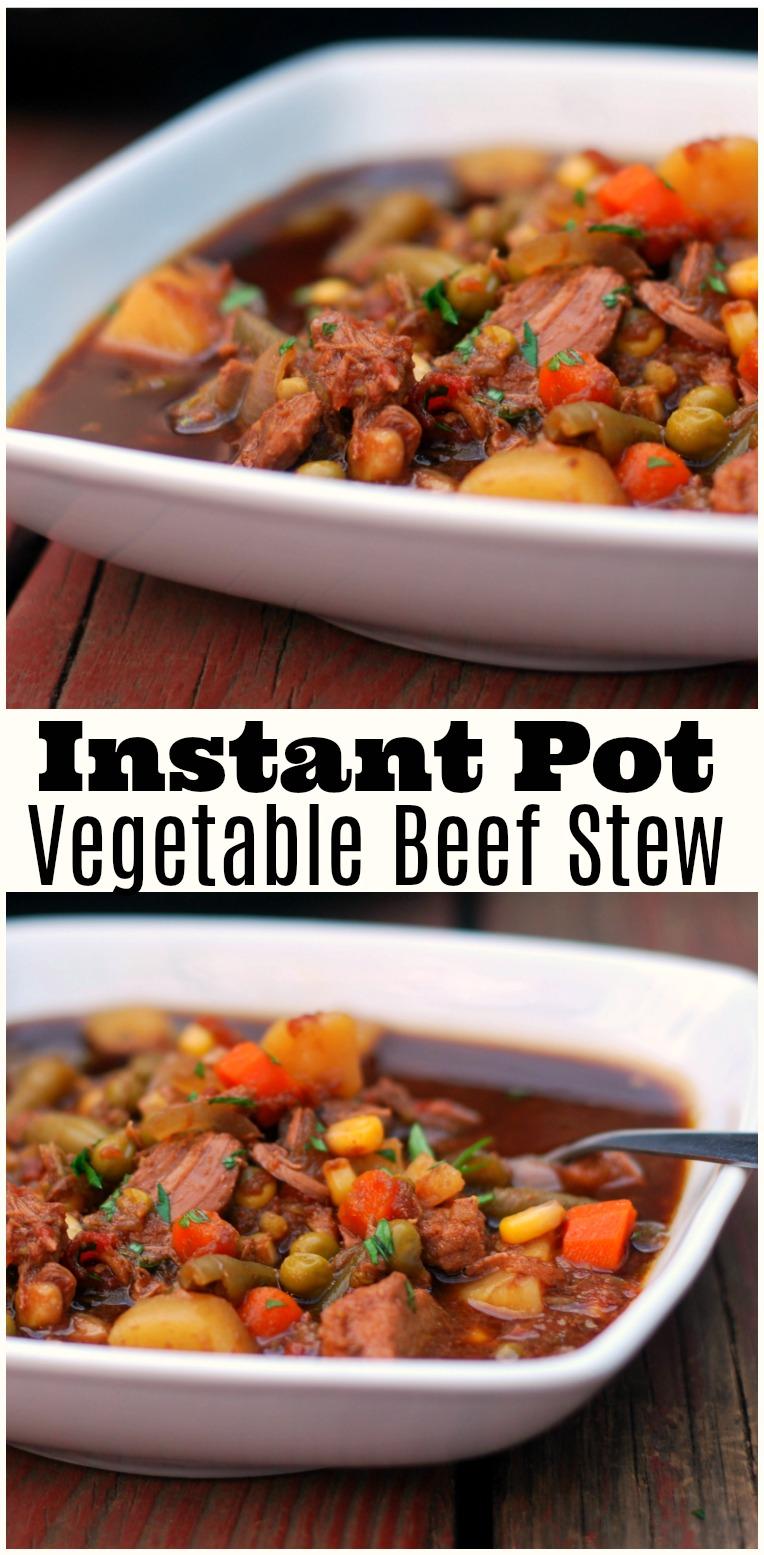 Instant Organic Garden : Instant pot vegetable beef stew aunt bee s recipes