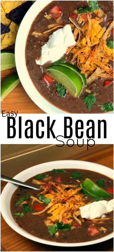 Easy Black Bean Soup | Aunt Bee's Recipes