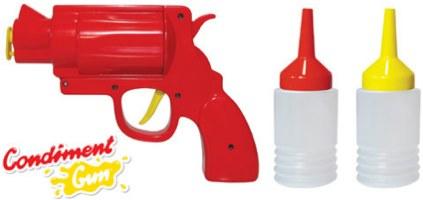 senf und ketchup pistole einen schuss ketchup gef llig. Black Bedroom Furniture Sets. Home Design Ideas