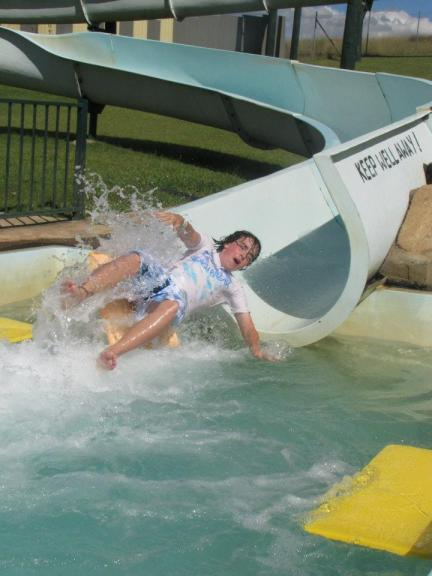 Waterslide at Green Valley Farm