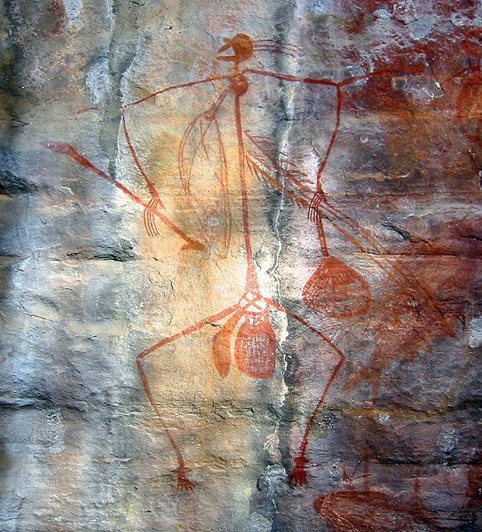 Aboriginal art can be found in abundance in Kakadu National Park. Image courtesy of WIkipedia Commons.