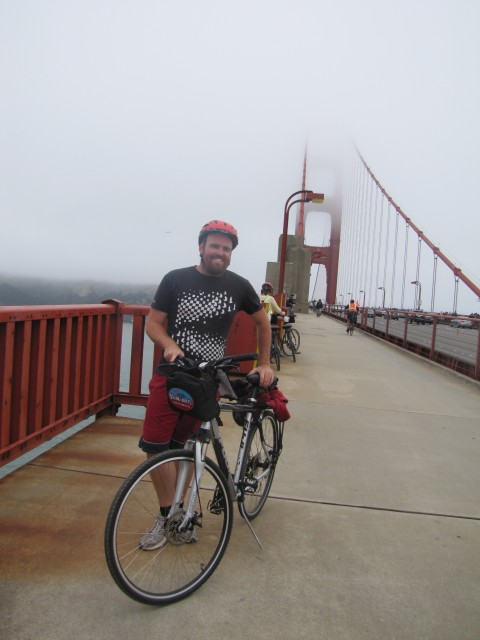 Taking a break from my ride from San Francisco to Sausalito.