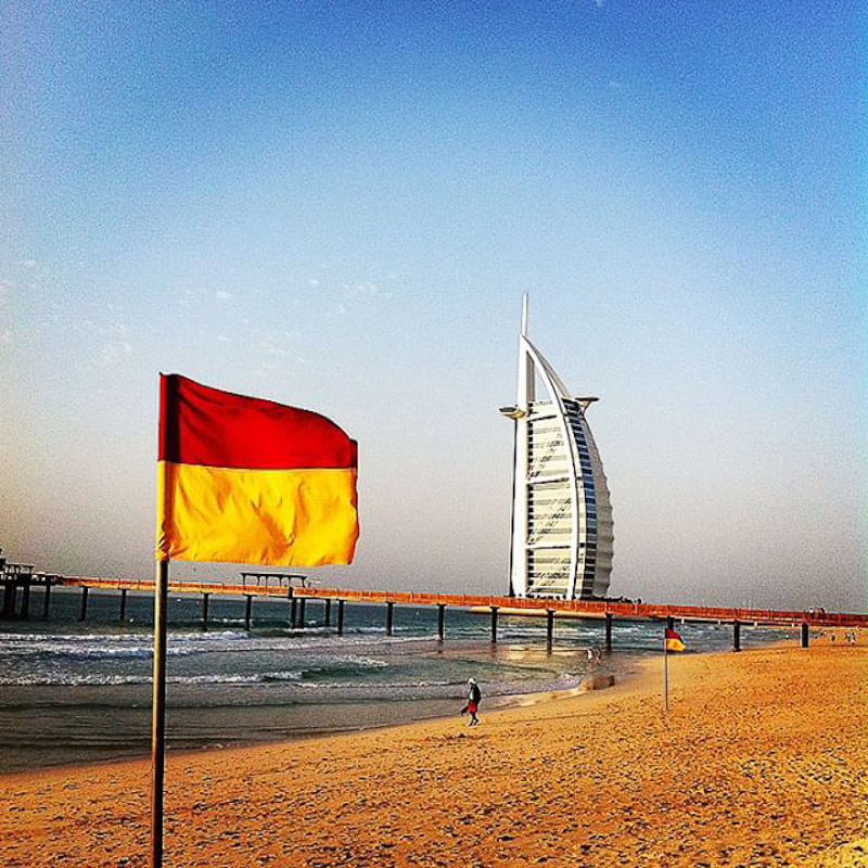 surfing kite beach dubai burj al arab