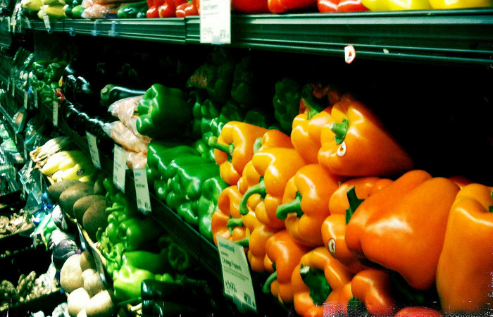 Vegetables at a Whole Foods Market. Photo: Flickr user Ines Hegedus-Garcia, creative commons licensed.