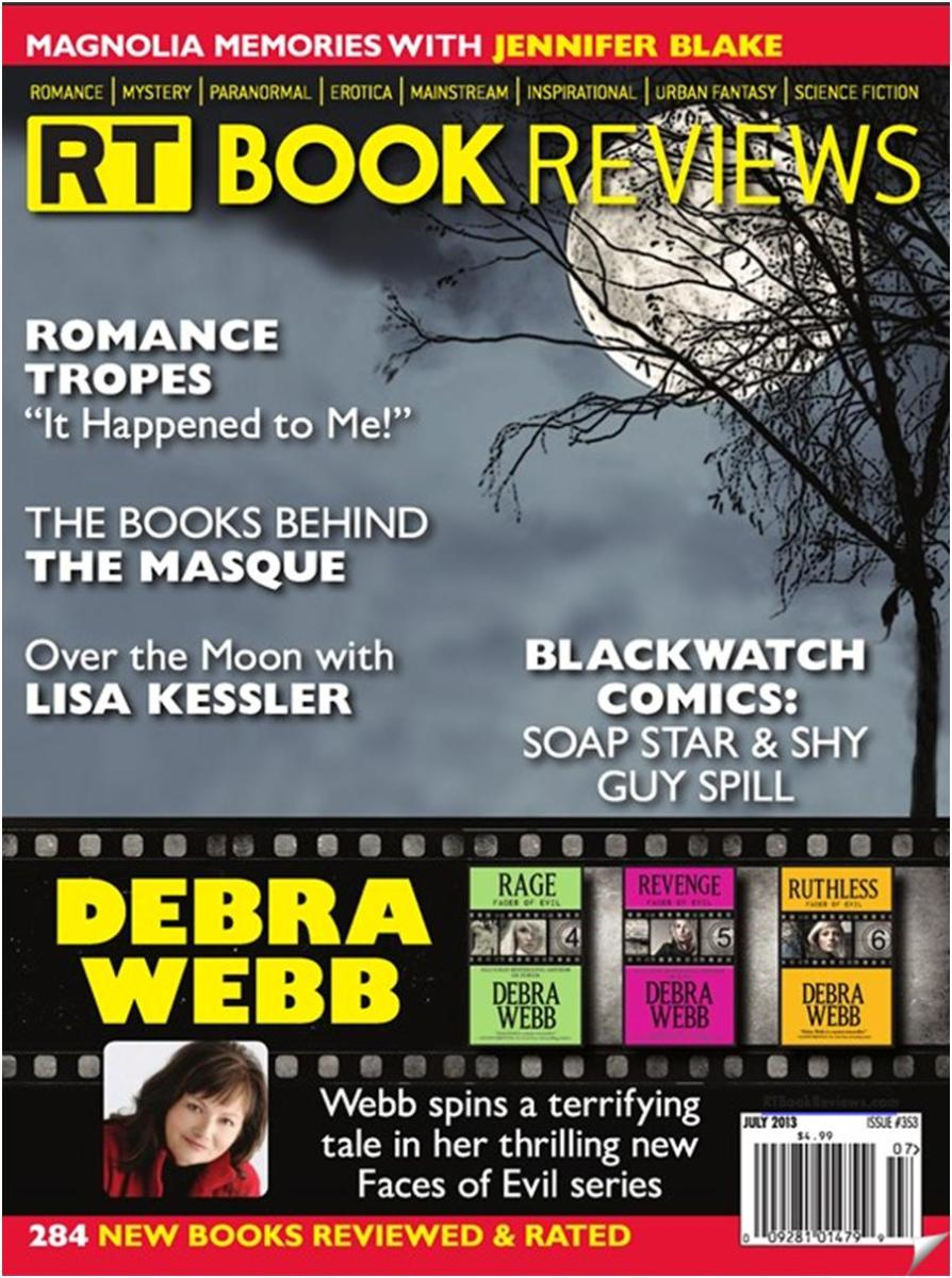 I'm mentioned on the cover of RT Book Review Magazine!!! SQUEE!!! :)