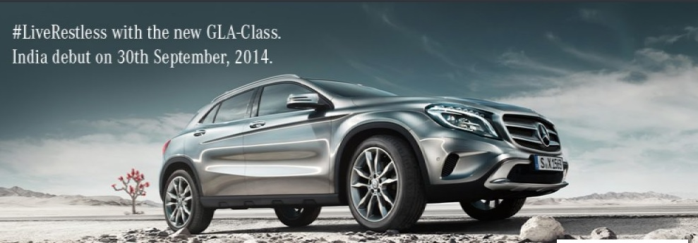 Mercedes benz to launch 2014 gla crossover on 30th for Mercedes benz gla class india