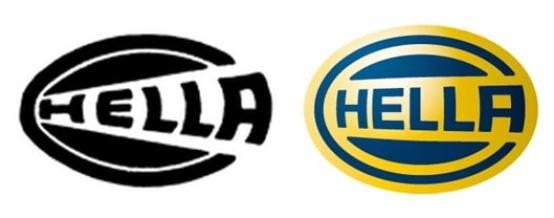 O primeiro logo e o atual