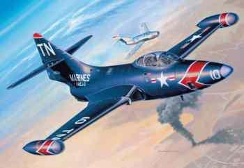 Grumman F9F Panther de asas retas