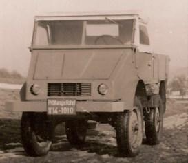 O primeiro protótipo com rodas de caminhão