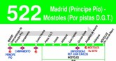 Horario ida bus 522