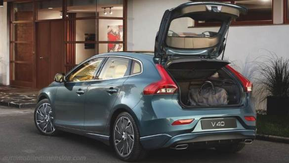 Volvo V40 2016 dimensions  boot space and interior Volvo V40 2016 boot Zoom