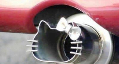 Hello Kitty Ferrari Exhaust