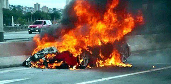 Ferrari 458 Burning