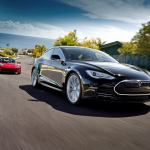 TeslaModelSBlackInMotion